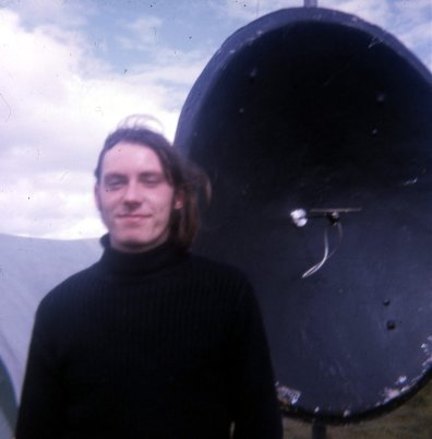 Myself with the 1296Mhz dish antenna