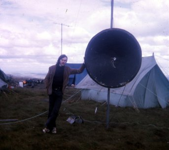Neil G3ZPL and the 1296Mhz dish antenna