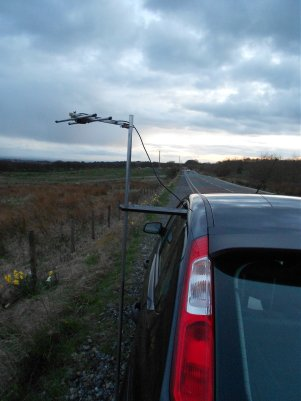 Winter Hill, Bolton testing my 432Mhz HB9CV antenna