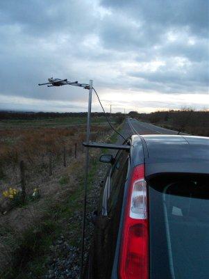 Winter Hill, Bolton testing my 432Mhz HB9CV antenna