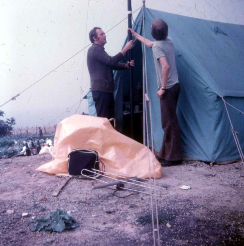 Operating tent and equipment, Affetside.