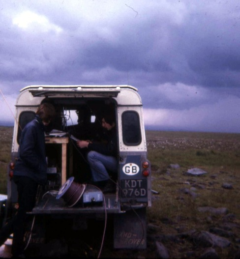 Back of a landrover at Holcomb Hill